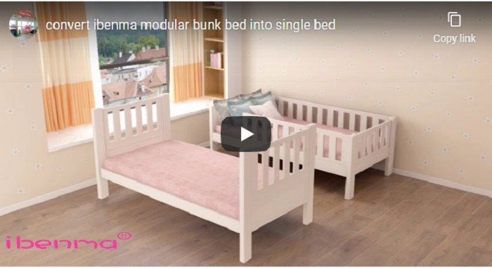how to convert bunk bed to single bed