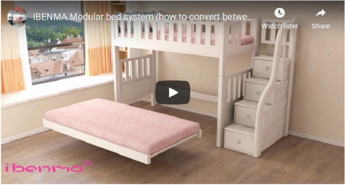 video for ibenma modular bed