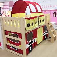Children bunk bed curtain | Fire Engine
