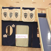 Loft bed curtain | Police