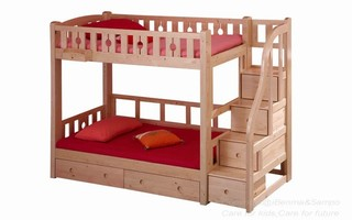 BL04A Bunk Bed with Staircase (Drawers under bed,pull-out bed,bookshelf sold separately)