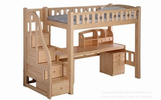 BL04B Loft Bed with staircase(Table,bookshelf and chest of drawers sold separately)