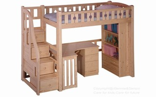 BL04B Loft Bed with staircase (Desk & bookcase sold separately)
