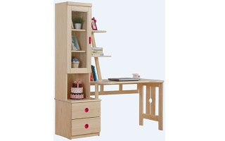 T010 Study Table with bookshelf