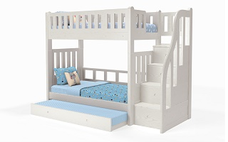 M204A Single | Super Single Modular Bunk Bed with Storage Staircase