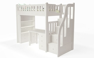 M204B Single | Super Single Modular  Loft Bed | Bunk Bed with staircase