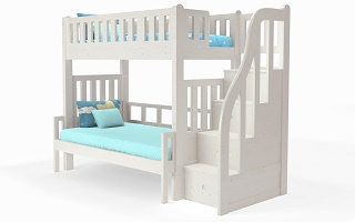 M301S Modular High Bunk Bed | extendable bottom super single