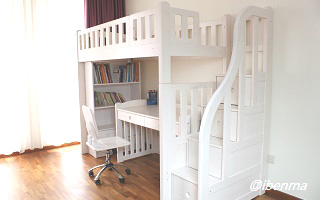 M204B Modular Loft Bed with staircase (Single or Super Single)