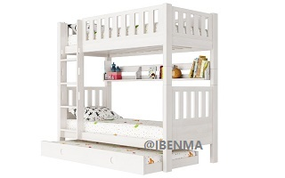 SM202A Single | Super Single Modular Bunk with Straight Ladder
