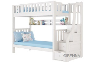 SM204A Modular Single or Super Single Bunk Bed with storage staircase