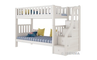 SM21A  Modular Single or Super Single Bunk  Bed with storage staircase