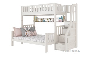 SM301L  Modular Single /Queen Bunk  Bed with storage staircase