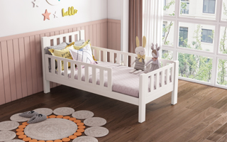 SM010  Modular Single /Super Single Bed with Removable Guardrails