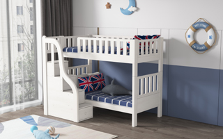 SM21A  Modular Storage Single and Super Single Bunk  Bed | Space Saving Bed