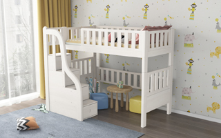 SM21B Single and Super Single Modular Loft Bed with front storage staircase