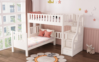 SM21B Single | Super Single Loft Bed with Storage Staircase (L type)