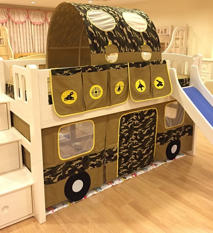 children bunk bed curtain