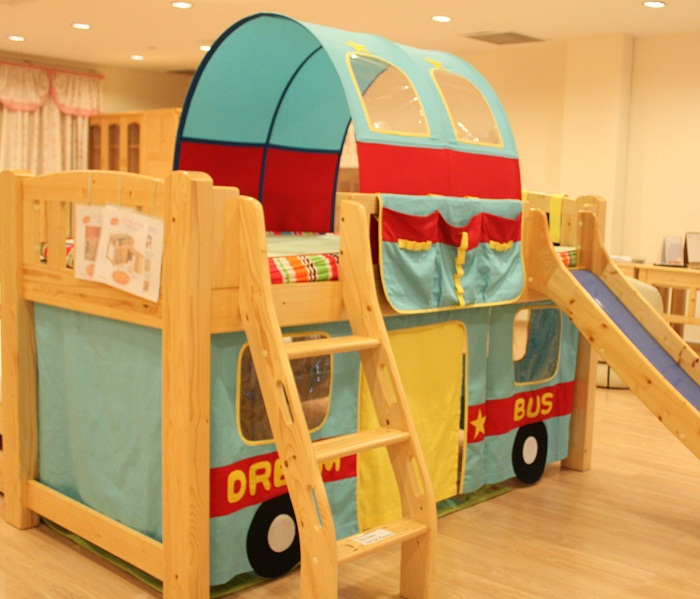 Children loft bed curtain | Dream Bus
