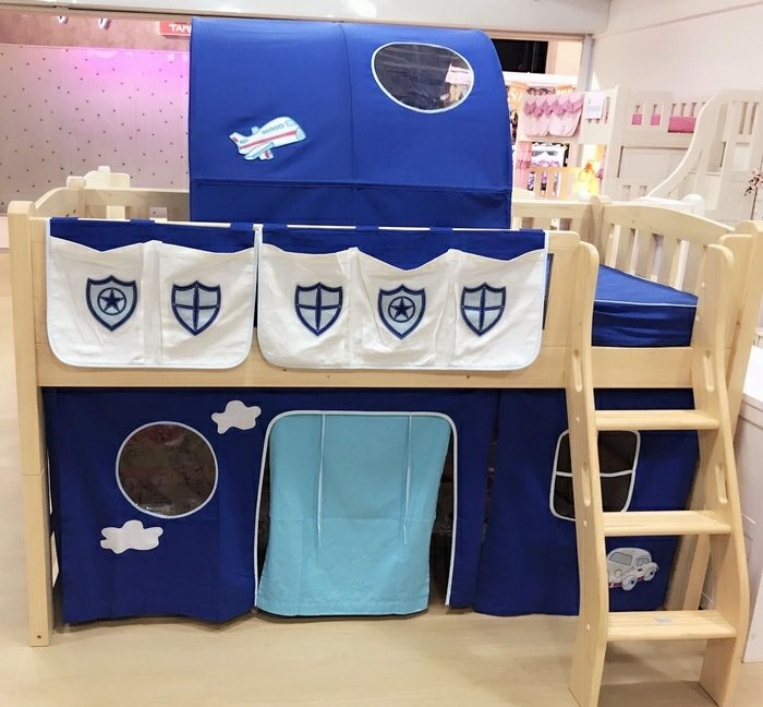 children bunk and loft bed curtain | police