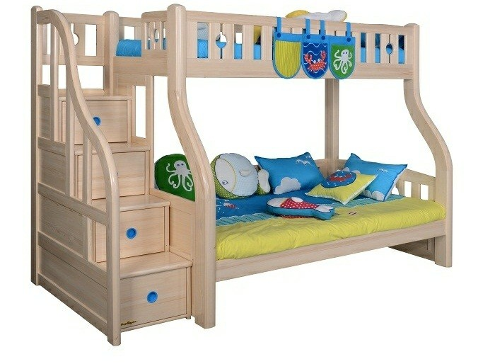 BL303 Bunk Bed with Staircase (Drawers under bed,pull-out bed & bookshelf sold separately)