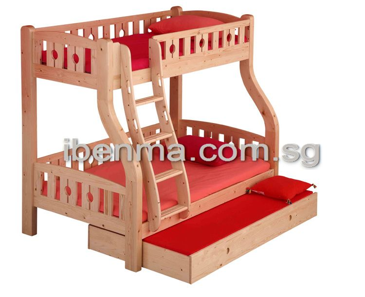 BL01 Bunk Bed with ergonomic ladder