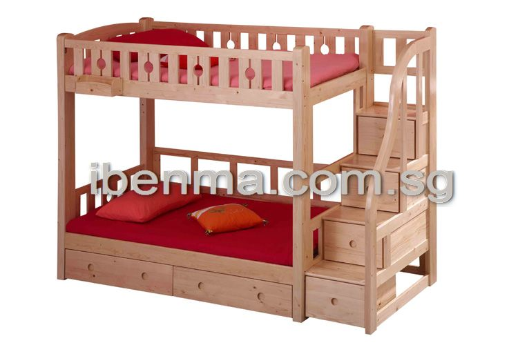 Children Bunk Bed With Staircase And Drawers For More Storage