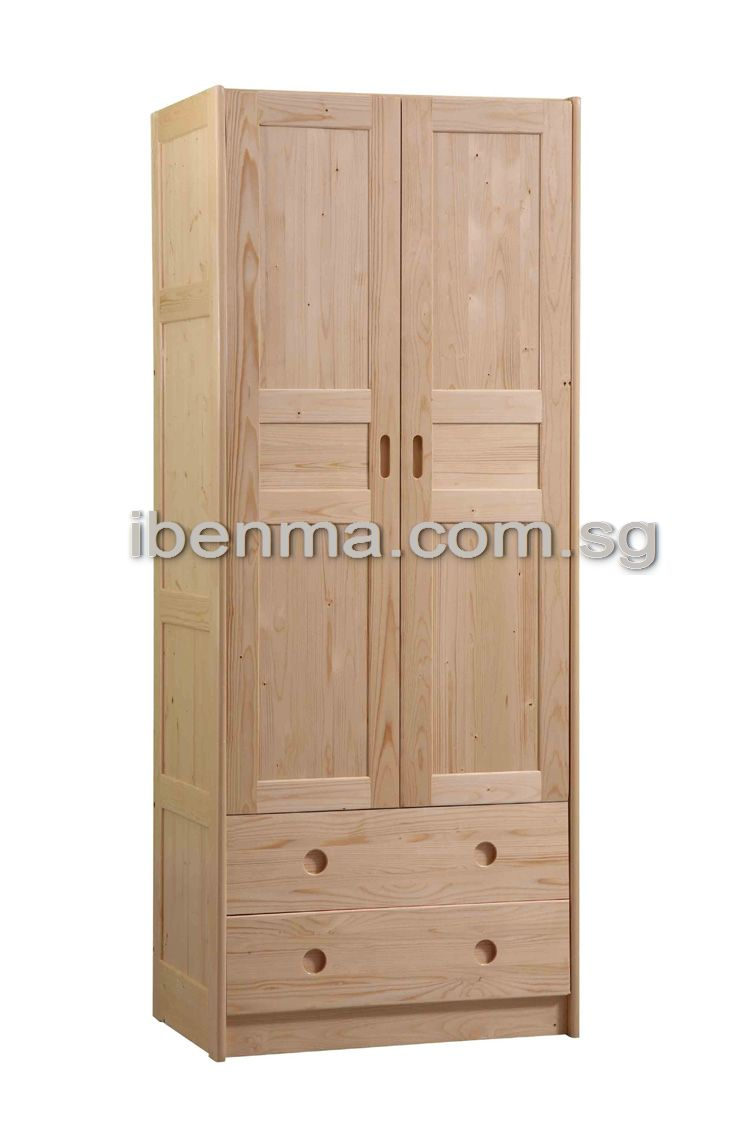 G001 Wardrobe (2 doors 2 drawers)