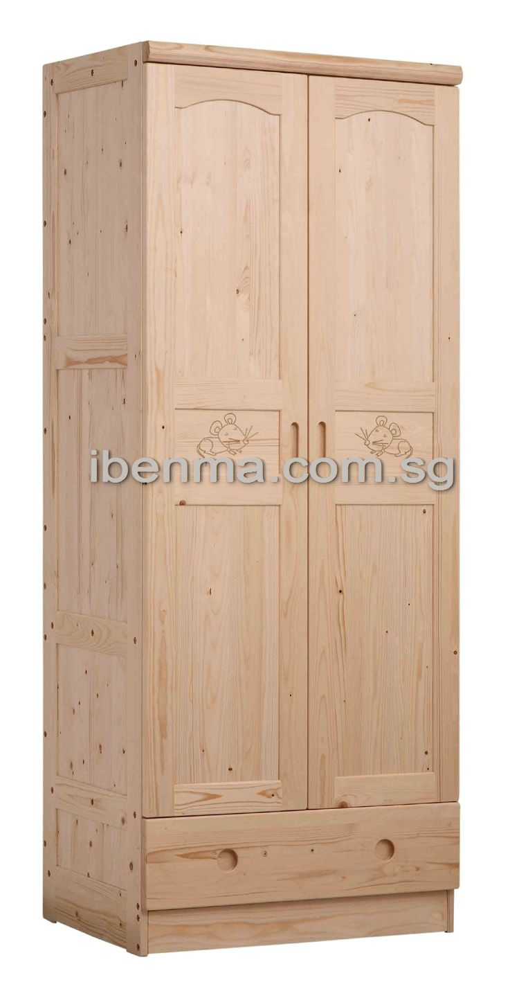 G002 Wardrobe (2 doors 1 drawer)