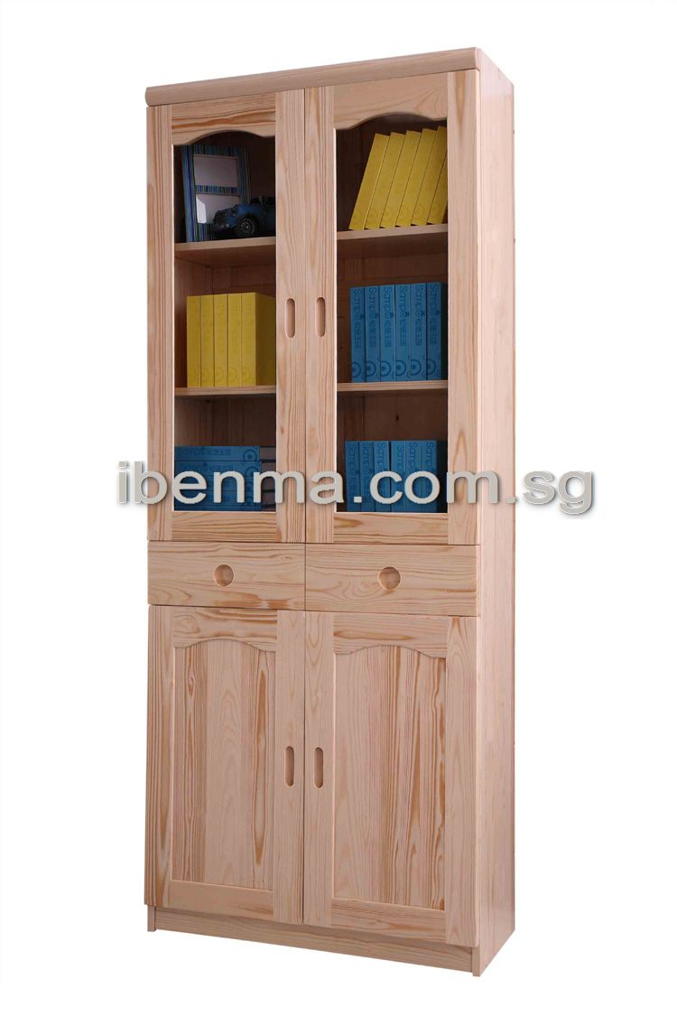 S001C Bookcase (4 doors and 2 drawer)