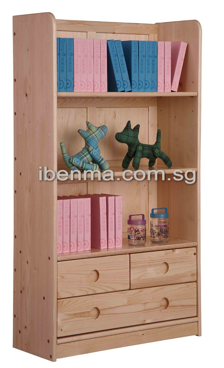 S003 Bookcase ( 3 drawers below)