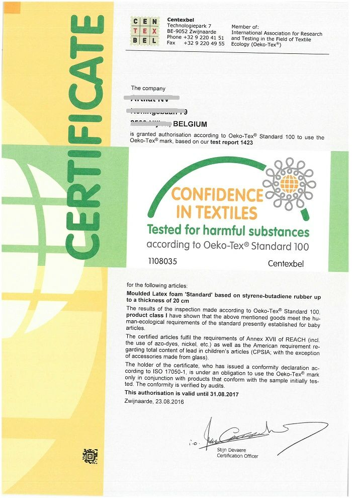oekotex certification for children and baby