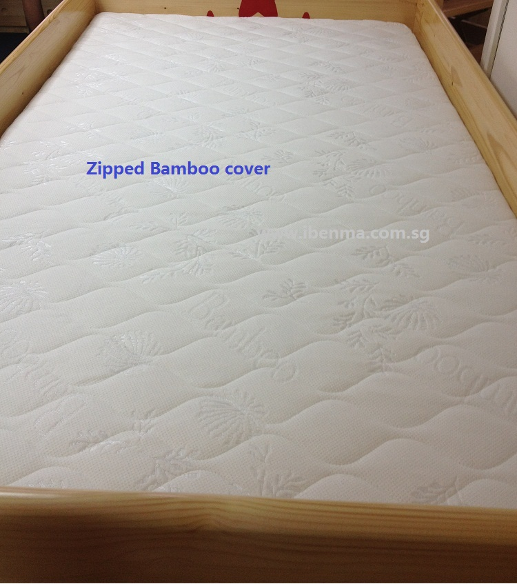 zipped children latex mattress cover
