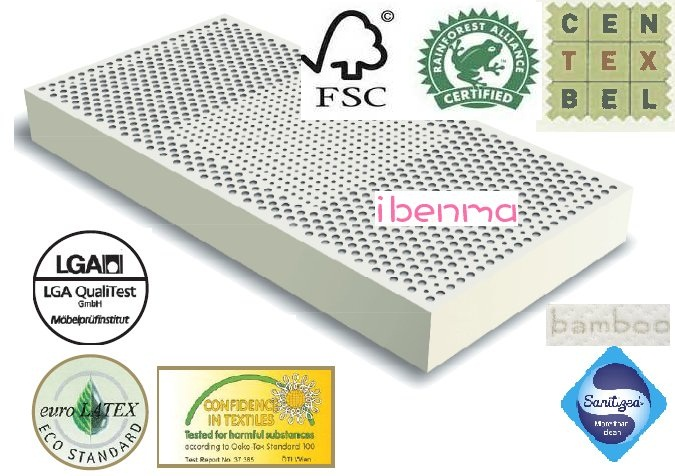 Begium 100% latex mattress