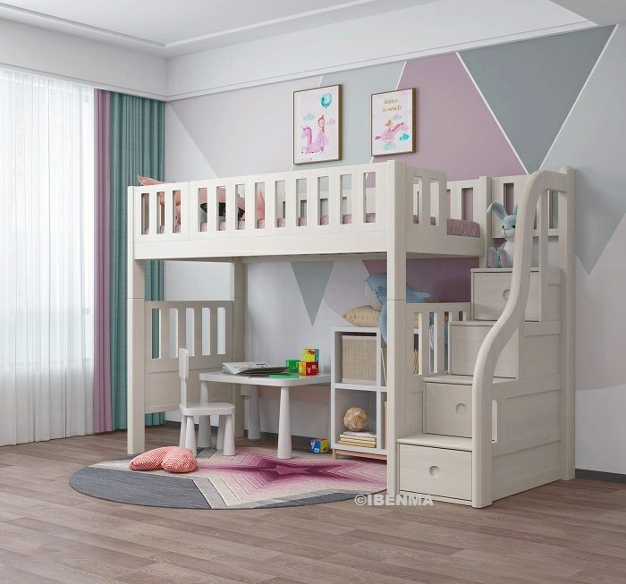 singapore modular single loft bed, super single loft bed