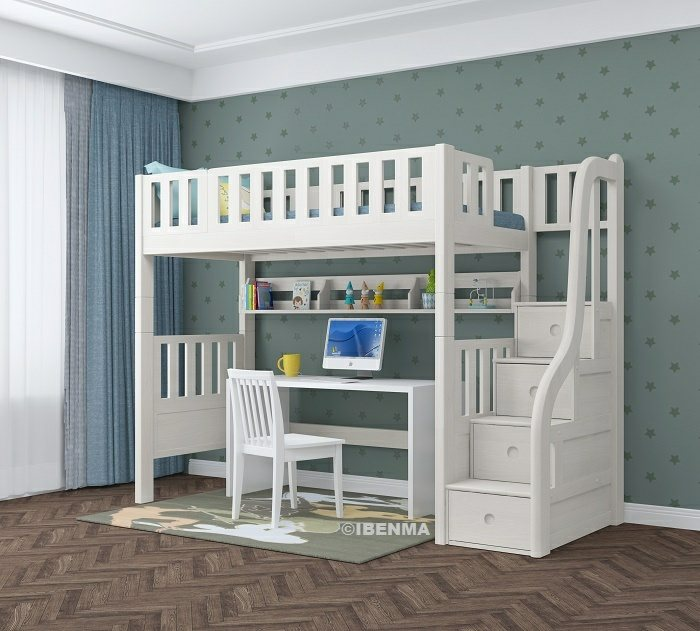 modular loft bed for children and teenages