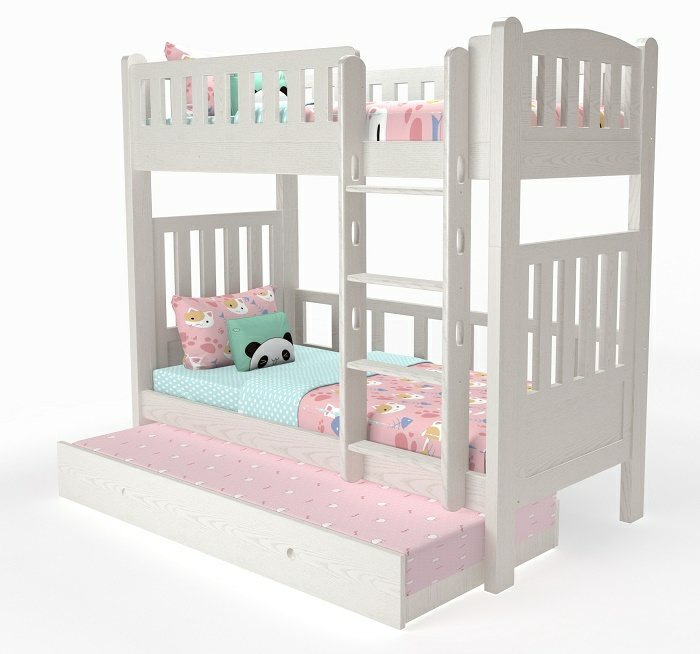 M202A Modular Loft bed and bunk bed with pullout bed