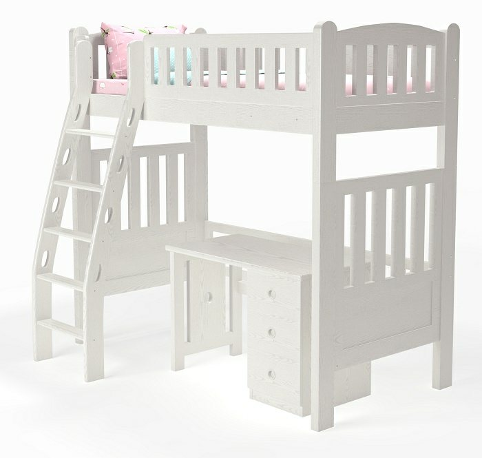 M202B Single | Super Single Modular Loft bed  with ergonomic ladder