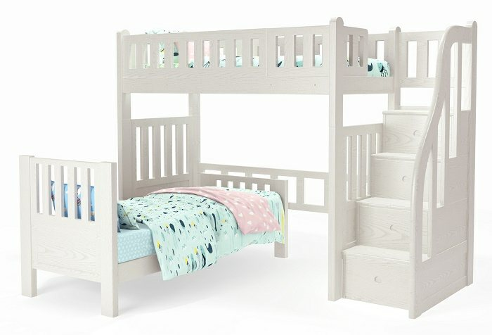 M204B Single | Super Single Loft Bed with L Shape