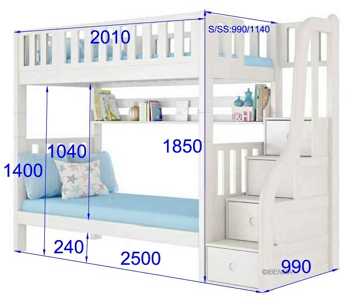 Smart bunk bed size