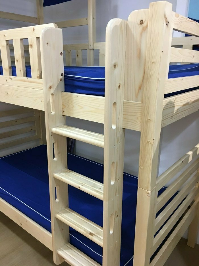 solid wood bunk bed, wooden bunk bed