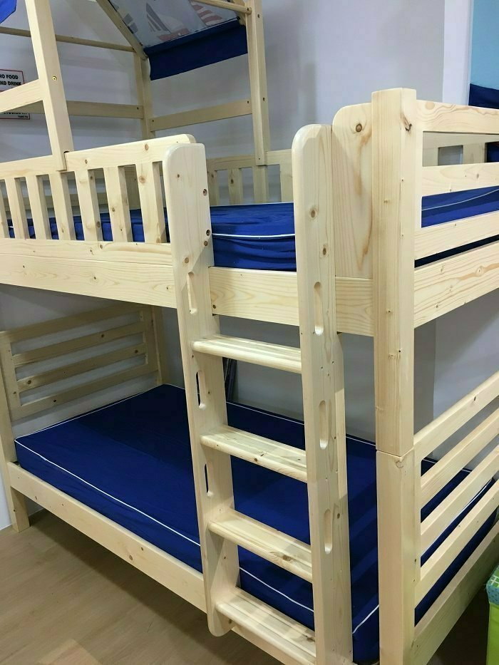 separate bunk bed, convertible wooden bunk bed