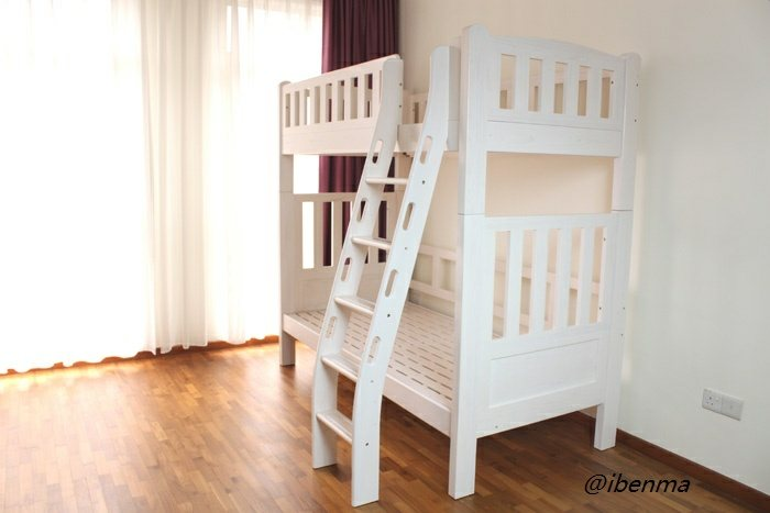 M202E Bunk Bed with ergonomic ladder (Single or Super Single)
