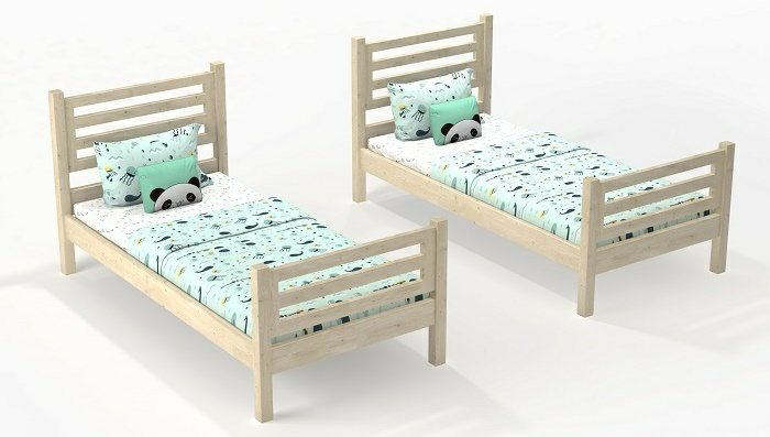 convertible to single bed