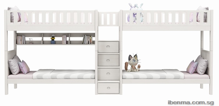 ibenma bunk bed and loft bed | middle height