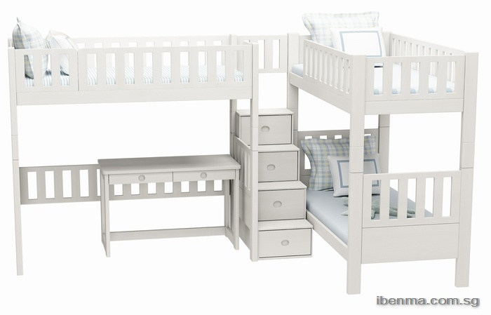 Customized bunk bed and loft bed | combined bunk bed