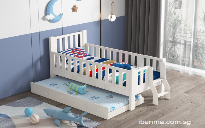 SM010 Modular Todder  Single Bed | Super Single Bed | Fun Ladder with Pullout Bed