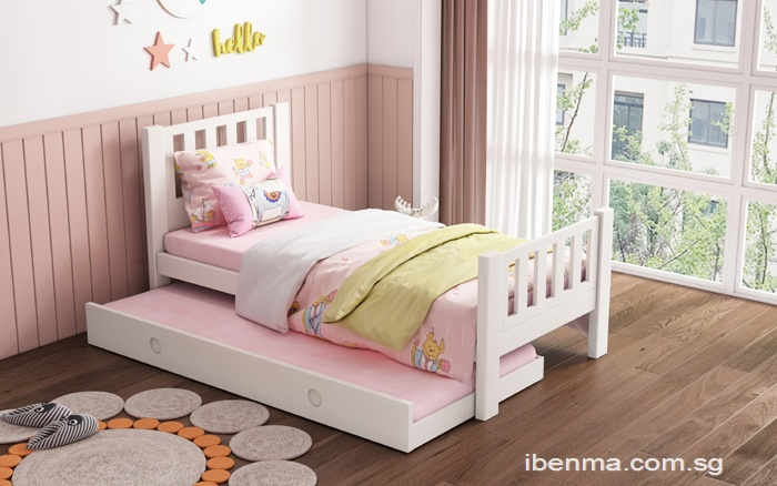 SM11  Single | super single  Bed  with Pullout bed (modular design)