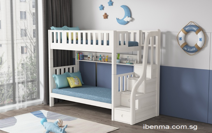 SM204A Single | Super Single Modular Bunk Bed with Storage Staircase