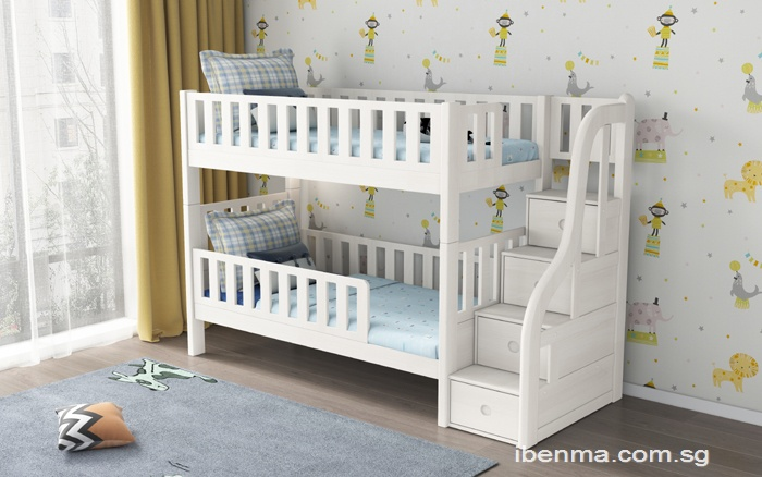 SM21A  Modular Single and Super Single Bunk  Bed with storage staircase