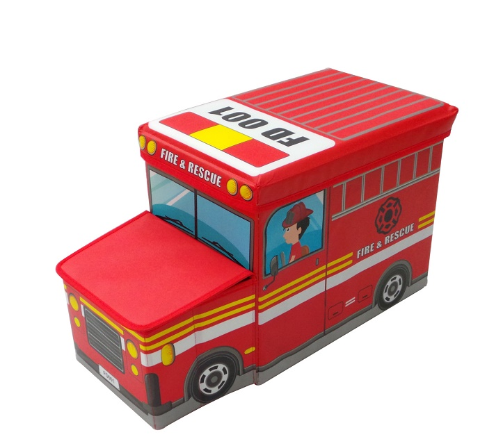 storage stool (fire engine car)